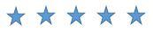 5 étoiles bleues